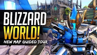 Overwatch NEW MAP Blizzard World - FULL TOUR & Secrets!