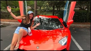 BUYING WIFE A LAMBORGHINI AVENTADOR PRANK 😱🏎