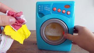 Speelgoed wasmachine uitpakken ~Unboxing Toy Washing Machine