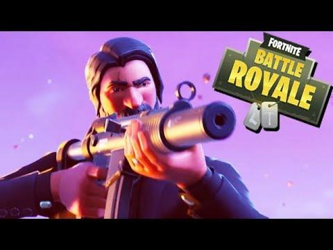 Fortnite Battle Royale Gameplay German - John Wick Skin Season 3