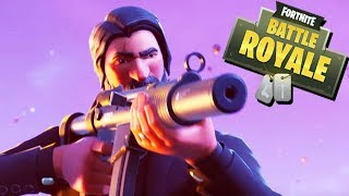 Fortnite Battle Royale Gameplay German - John Wick Skin Season 3