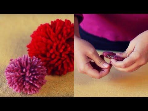 C mo hacer pompones de lana manualidades de lana - Como hacer pompones ...