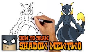 How to Draw Shadow MewTwo | Pokemon