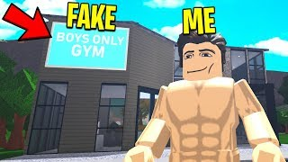 I Made A BOYS ONLY Gym To Prank My Friend UNDERCOVER.. (Roblox)