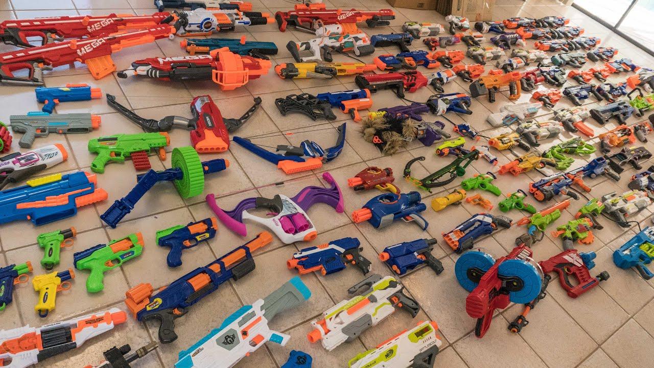 Nerf Gun Arsenal AWESOME NERF ARSENAL |...