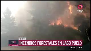 Incendios forestales en lago Puelo