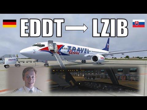 VATSIM IFR Flight Example: Berlin to Bratislava! FULL ATC! [P3D V3] [Boeing 737-800 NGX]
