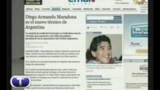 Maradona trainiert die Albiceleste
