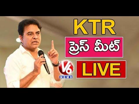 KTR Press Meet LIVE | Lok Sabha Election Results 2019 | V6 News