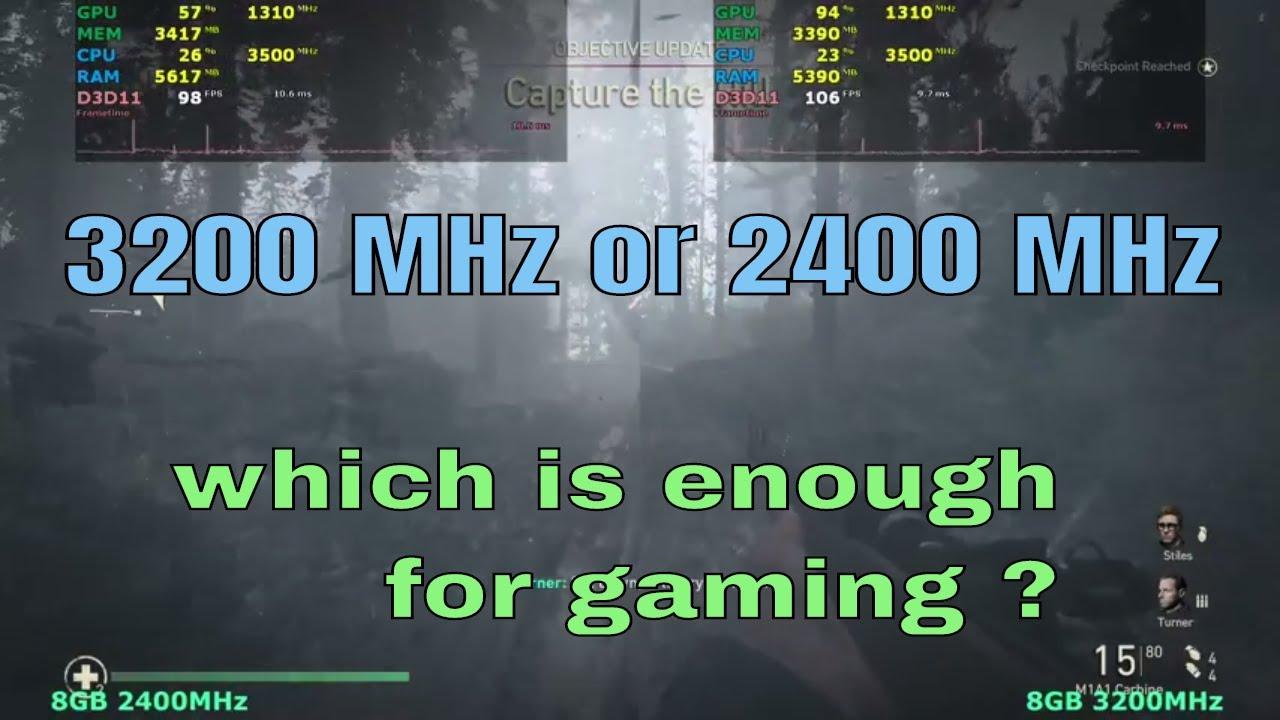 2400Mhz vs 3200Mhz RAM | Tested in 13 Games , Ryzen CPU , 8GB
