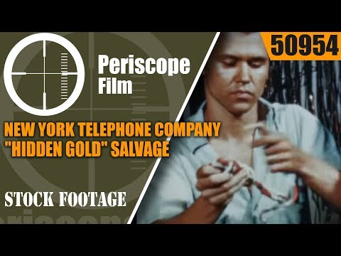 "NEW YORK TELEPHONE COMPANY  ""HIDDEN GOLD""  SALVAGE & REUSE OF TELEPHONE EQUIPMENT 50954"