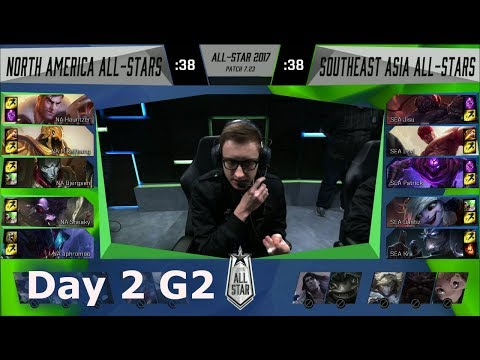 NA LCS vs SEA | Day 2 of LoL 2017 All Star Group Stage | NA LCS All-Stars vs SEA All-Stars