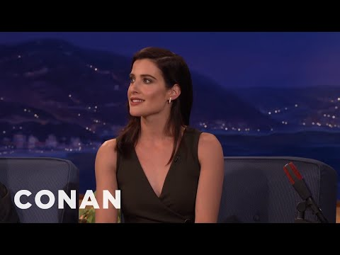 Cobie Smulders Had A Broken Leg And Didn't Know It   CONAN on TBS