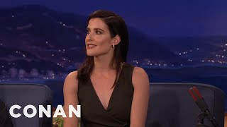 cobie smulders had a broken leg and didn t know it conan on tbs