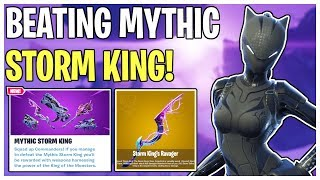 Beating the MYTHIC Storm King! Mythic Storm King Fight & Rewards | Fortnite Save The World