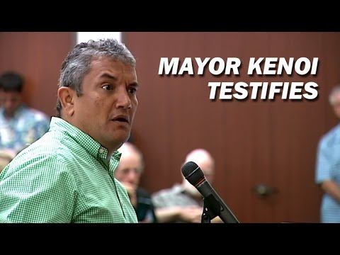Mayor Kenoi Testifies At Water Commission Hearing