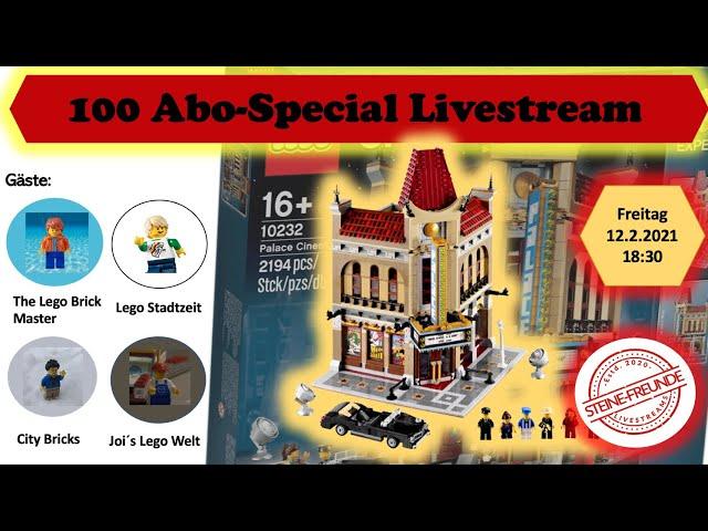 100 Abo Special Live Stream - Palace Cinema Live Build mit Gästen / Steine Freunde Stream