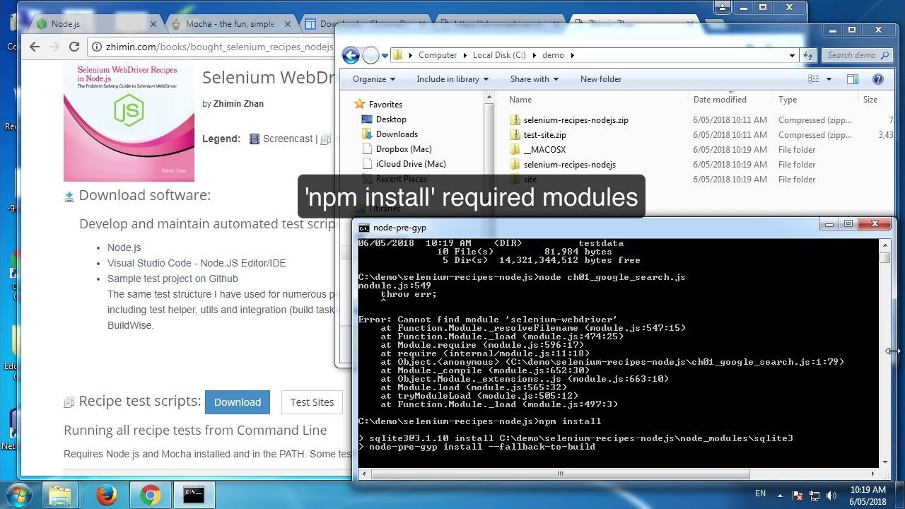 Run Selenium WebDriver Recipe tests - YouTube