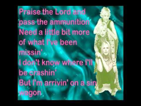 Sin Wagon Dixie Chicks Lyrics