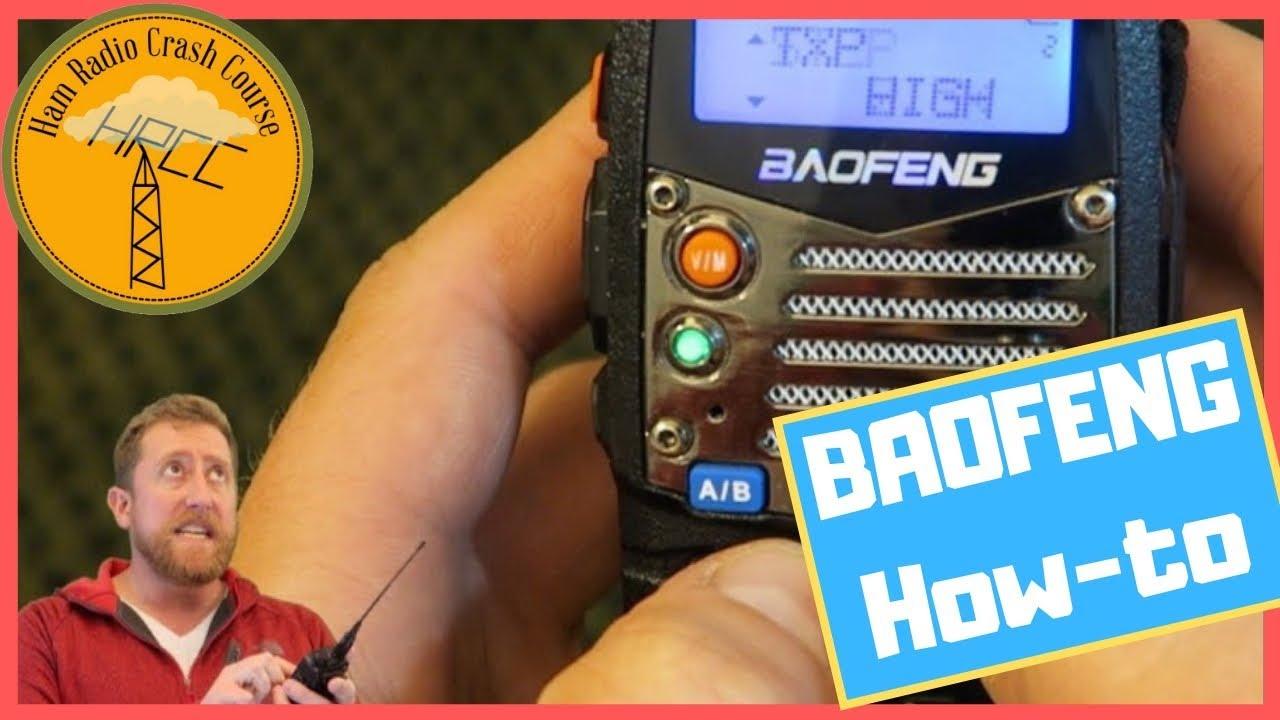 How to Program a BaoFeng Radio