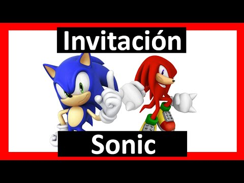 Crear Invitacion Sonic Con Tu Foto Digital Whatsapp
