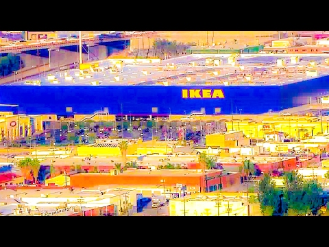 Browsing/Lunching At the Giant New IKEA, Burbank, California
