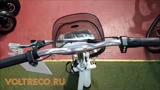 Трицикл электрический Voltrix Trike 500w 48v трехколесный электроскутер Обзор Voltreco.ru