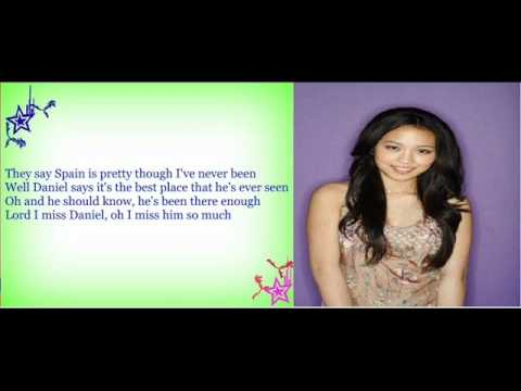 Thia Megia - Daniel (Studio Version with Lyrics) American Idol  Top 11