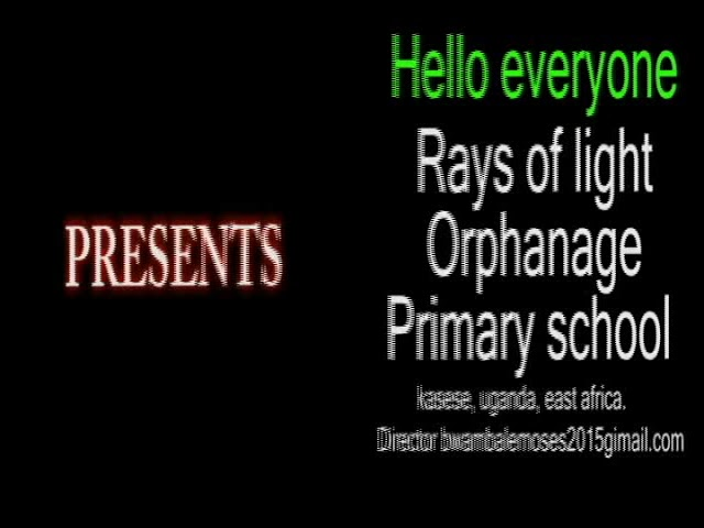 Ray of light part 1