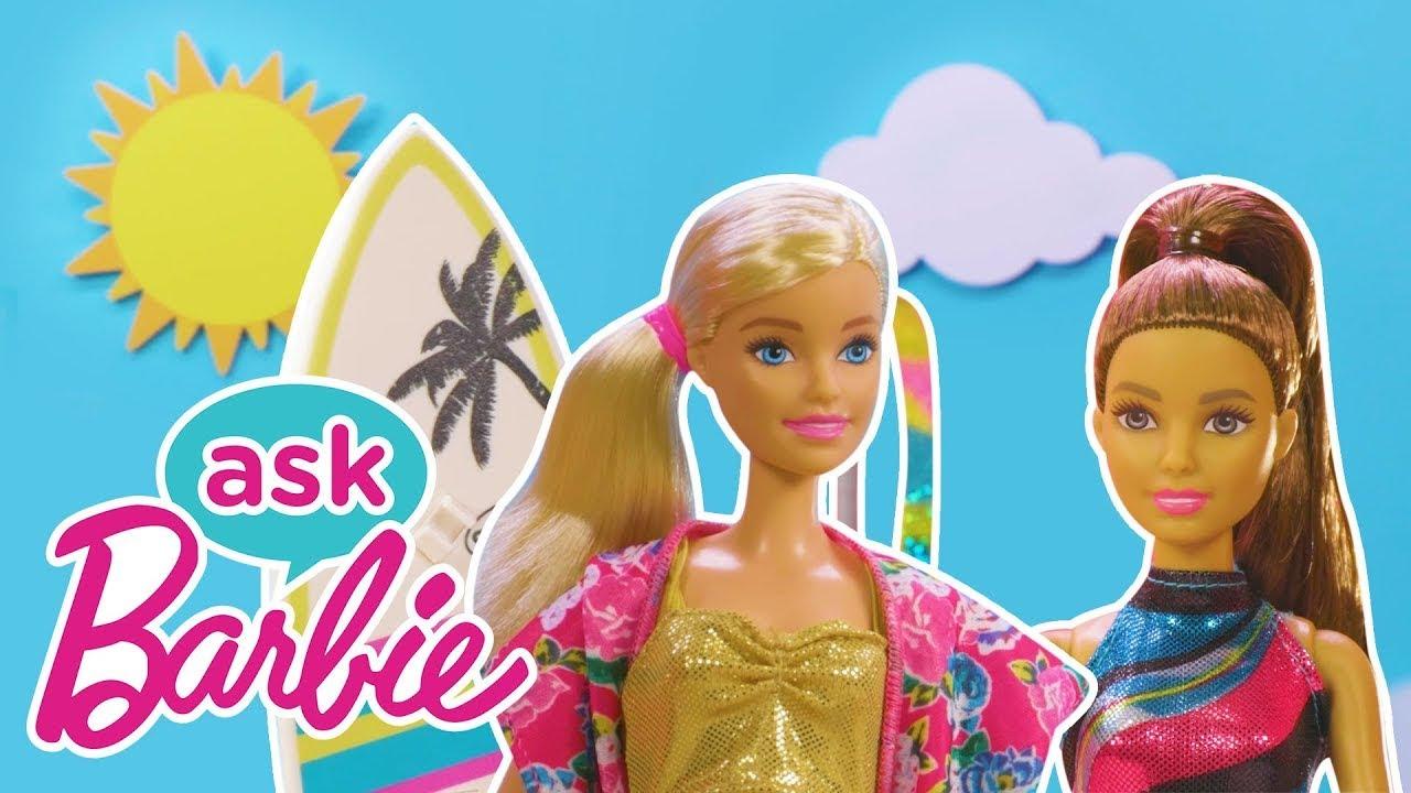 Frag Barbie zu tollen SOMMER-Sportarten! (Surfen, Gymnastik, Fußball mit Chelsea) | @Barbie Deutsch