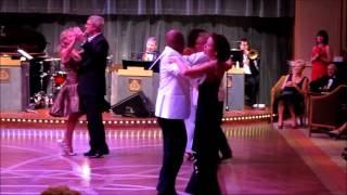 Dancing on Cunard's ms Queeen Elizabeth (Queen's Room) ~ ballroom dance competition