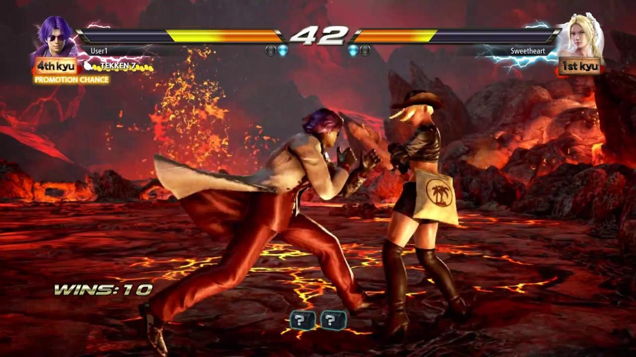 TEKKEN 7 (PS4) Treasure Battle - Lee Vs Nina BRIMSTONE & FIRE Stage (1080p  60fps) No Commentary
