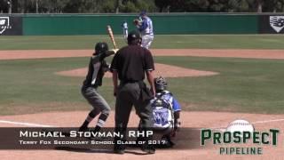 Michael Stovman Prospect Video, RHP, Terry Fox Secondary School Class of 2017