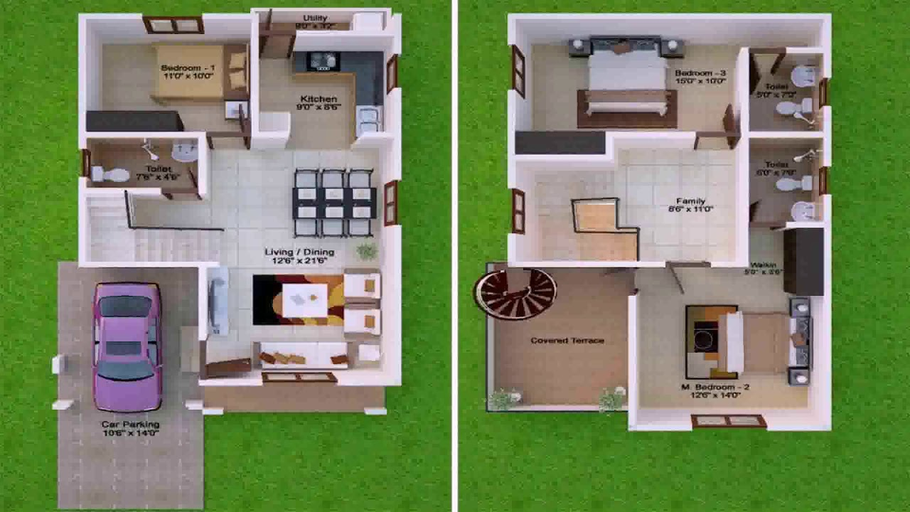 40 X 50 House Plans South Facing Youtube
