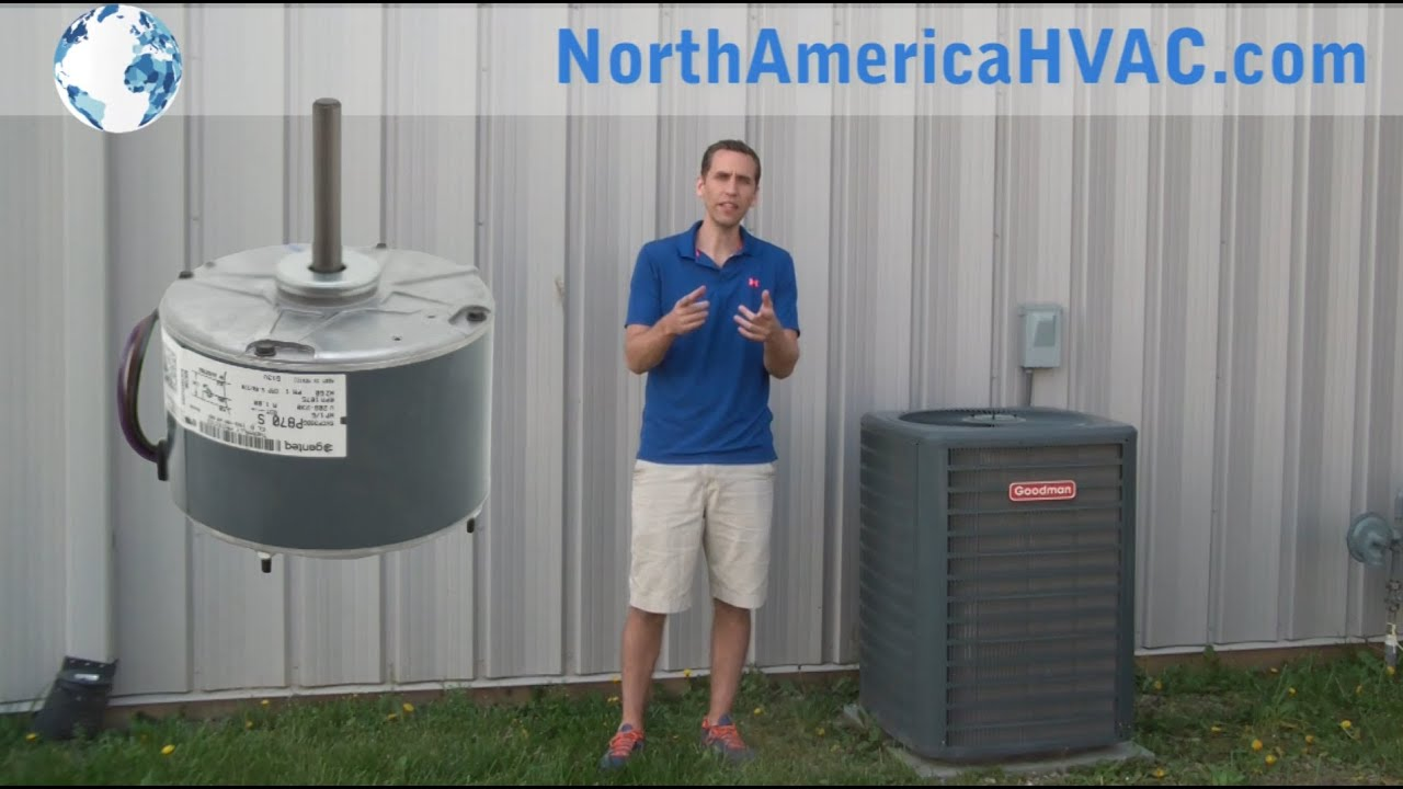 How To Replace An Condenser Fan Motor Hvac A C Install Youtube Coil Unit Wiring Diagram