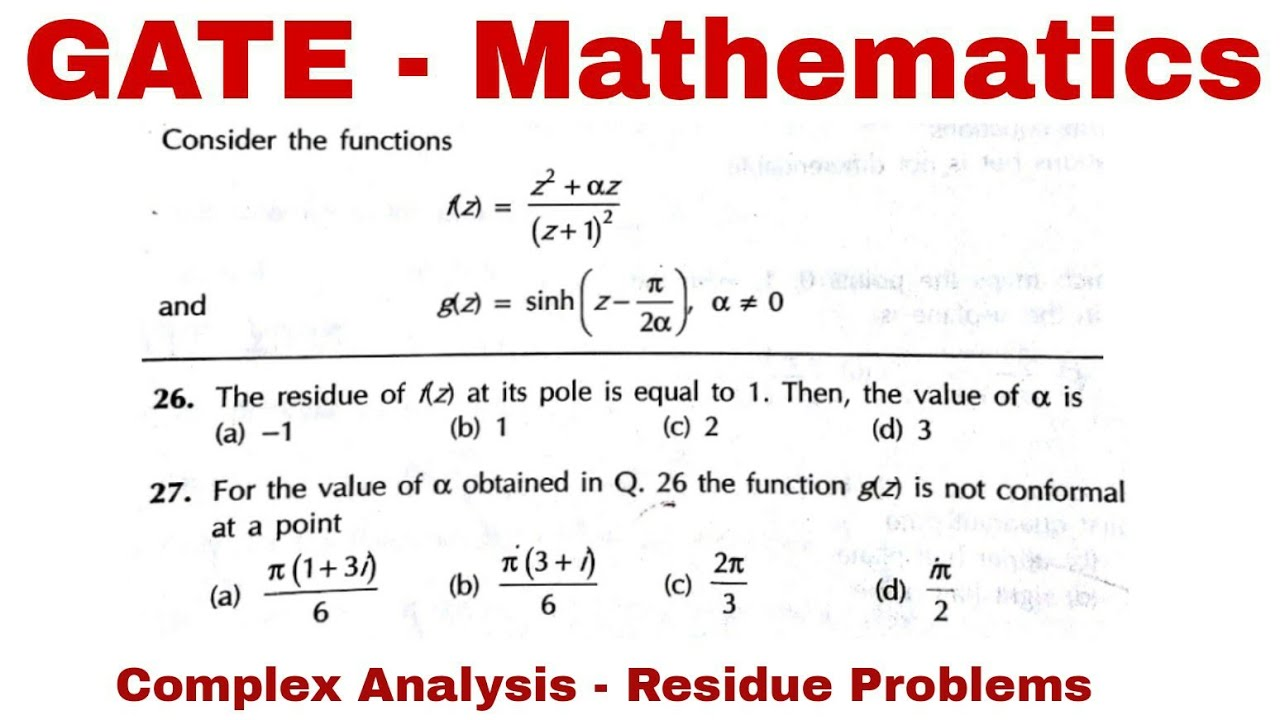 Gate MA 2012 | Two Solved problems of Complex analysis