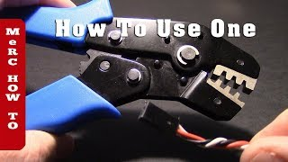How to use a Servo Cable Crimping Tool - For RC Fumblers (reduce wiring clutter)