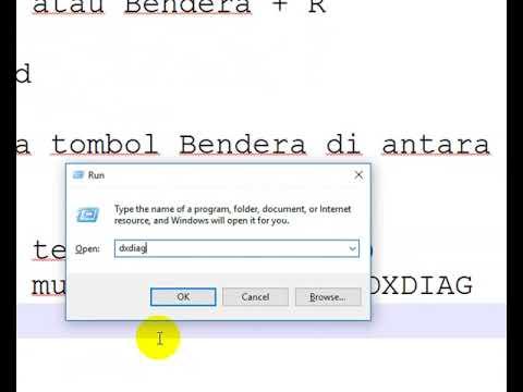 Cara Menjalankan DXDIAG di Windows 10