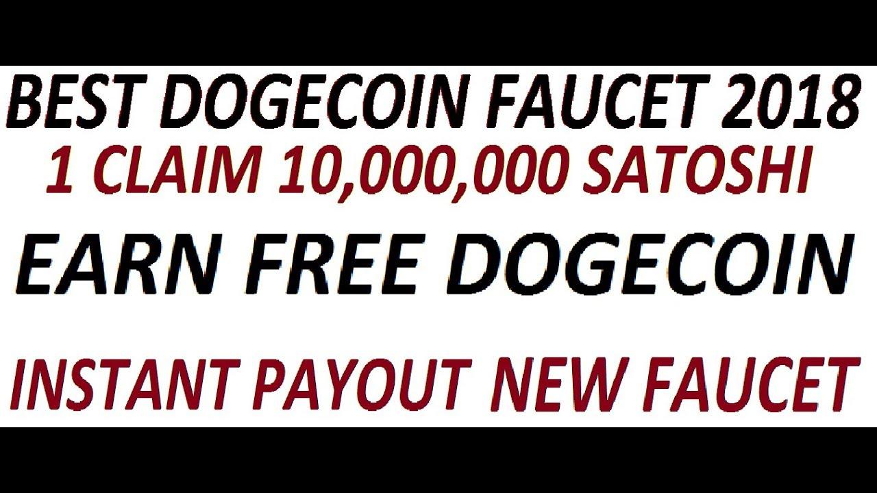 Best Dogecoin Faucet 2018   Every Claim 10,000,000 satoshi   Earn ...