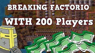 Breaking Factorio By Forcing 200 Workers To Do My Bidding Live