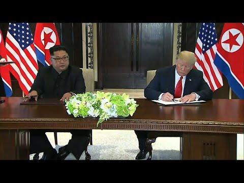 Trump and Kim Sign 'Comprehensive' Document