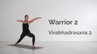 Warrior 2 Pose (Virabhadrasana 2) Tutorial