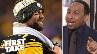 Stephen A. feeling 'real good' after Steelers' victory vs. Patriots | First Take