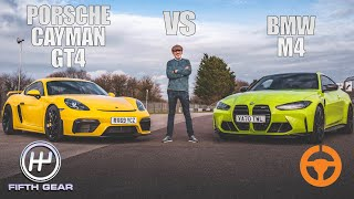 New BMW M4 vs Porsche Cayman GT4 - Shootout | Fifth Gear