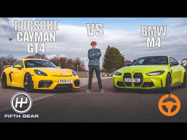 New BMW M4 vs Porsche Cayman GT4 - Shootout | Fifth Gear