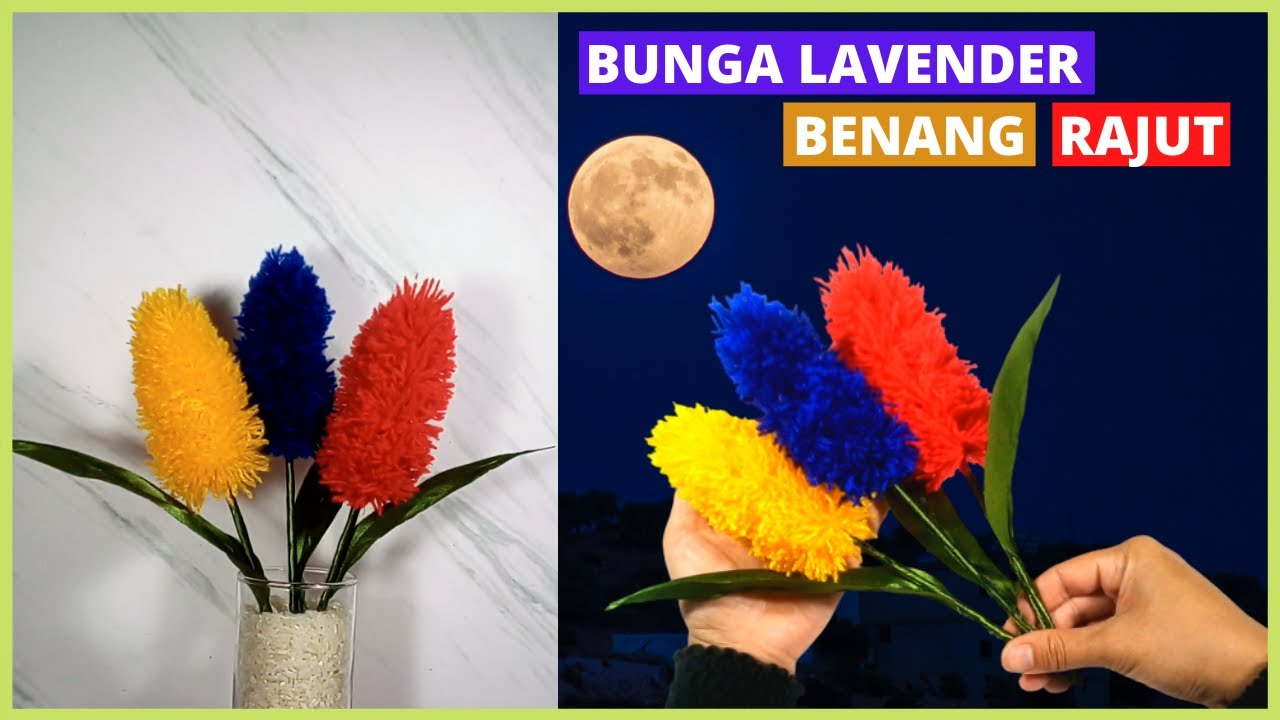 Tutorial Membuat Bunga Lavender Rajut Sederhana