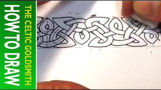 How To Draw Celtic Patterns 80 - Triskele variant 2, Aberlemno II, Celtic Cross part 4 of 5