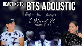 Waleska  Efra react to BTS Boy in luv + Danger + I need You Acoustic  REACTION
