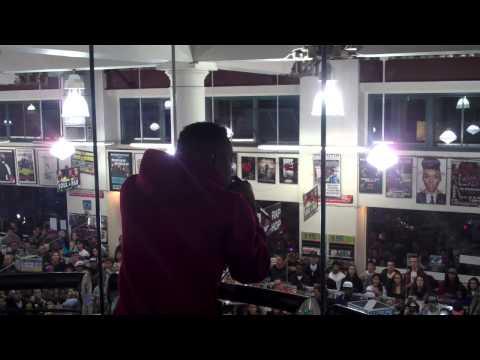 "Kendrick Lamar performs ""Money Trees"" at Rasputin Berkeley on 10/24/12"