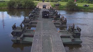 The British Reservists Building Bridges In Germany
